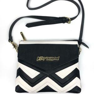 Betsey Johnson Striped Chevron Crossbody Bag